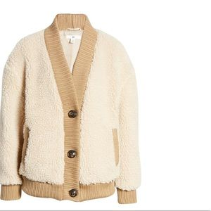 BP | Teddy Cardigan Coat NWT | XS